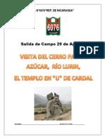Trabajo de Campo Verro Pan de Azucar Nicaragua (1)