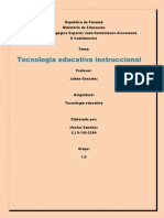Tecnoligia Educativa Instruccional