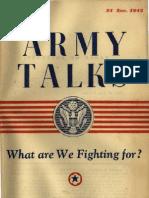 (1943) Army Talks