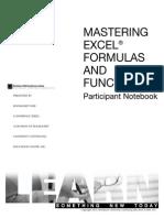 Mastering Excel Formulas Functions Workbook