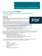 Acumen Pakistan Fellows Printable Application Form Class of 2015
