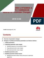 ENodeB Material for Parameter Changes (V100R003C00 vs V100R003C00T)