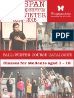 Fall/Winter 2014-2015 Conservatory Class Catalogue