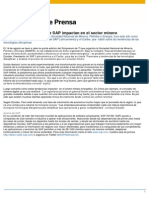 Soluciones en La Nube de SAP Impactan en El Sector Minero