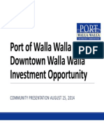Port of Walla Walla Downtown Investment Opportunity