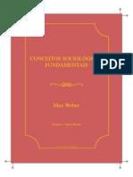 [Livro] (WEBER) [Economia e Sociedade] Conceitos Sociológicos Fundamentais