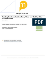 Reading Hurrican Katrina Race, Class, And the Biopolitics of Disposability