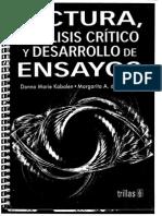 LECTURA, Analisis Critico y Desarrollo de Ensayos