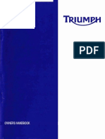 Triumph Daytona 675 Owners Manual