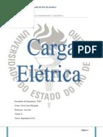 Relatório Carga Elétrica