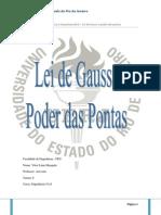 Relatório Lei de Gauss