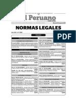 Normas Legales Del Dia Miercoles 27 de Agosto Del 2014