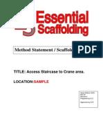 Job Method Statement - Scaffold Plan
