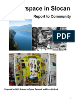 Report to Community Makerspace in Slocan