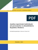 Analiza experientei individuale ale persoanelor cu dizabilitati in Republica Moldova