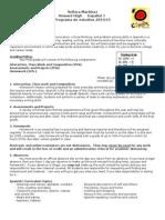spanish 1 syllabus 2014-15