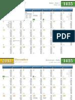 Calendar-2013 IL Naperville ICN Prayer Timings 0