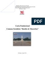 Carta Fundacional de La Comuna Socialista