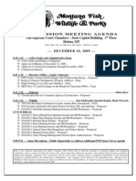 Agenda for 12/10/09 Montana FWP Commission Meeting