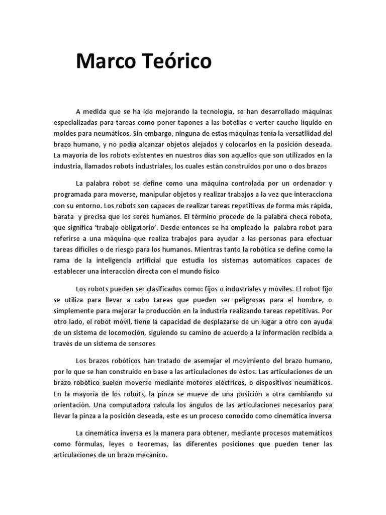 Marco Teórico Del Brazo Robotico