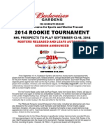 2014 Rookie Tournament Rosters Release and Leafs Autograph Session Announced
