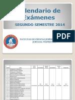 Calendario Examenes Derecho 2do Semestre 2014
