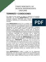 Contrato Mercantil de Distribuidor Independiente Oriflame