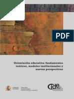 Orientación Educativa Fundamentos Teóricos, Modelos Institucionales y Nuevas Perspectivas