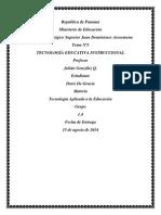 Taller Nª3 de Tecnoligia Sobre Tecnología Educativa Instruccional