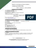 Ficha de Informação de Segurança de Produtos Químicos (Àcido Sulfurico)