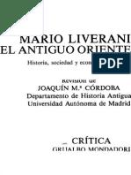 Liverani Mario Liverani El Antiguo Oriente Historia Sociedad y Economia