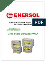 Plan de Reciclado de Baterias de Baterias Deep Cycle Range EDAU