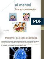 Transtornos de Origen Psicologico