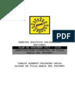 Plan de Gobierno Solidaridad Nacional Villa María Del Triunfo CARLOS PALOMINO