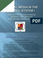 Social Media in School Systems !