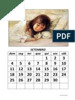 Calendario Modelo Criancas-Animais