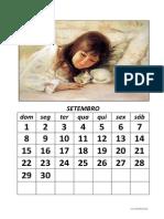 Calendario Modelo Criancas-Animais 2013 2014