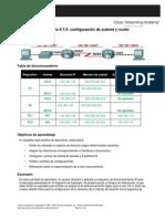 Configuracion de Subred y Router