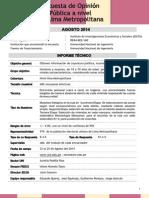 Encuesta UNI - IECOS Ficha Técnica Agosto 2014