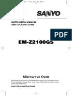 Microwave Manual- Sanyo