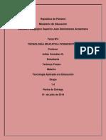 Taller Nª4 de Tecnologia Sobre Tecnologia Educativa Cognoscitiva