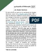 10. Filosofía Política de Alasdair MacIntyre
