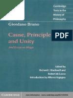 Giordano_Bruno - Cause,Principle and Unity