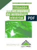Soldadura Electrica Uso Equipo