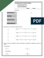 Taller de Matemáticas 4º (Generalidades de Los Números Fraccionarios - 3er Periodo)