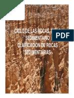 Ciclo de Rocas y Ambientes Procesos y Clasificaci n Rocas Sedimentarias 1 61803