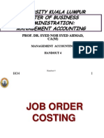 UNIKL M a - HO 4 - Job Order n Process Costing