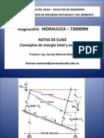 2 CLASE DE HIDRAULICA Energia específica