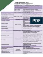 Agenda de Actividades PUDS