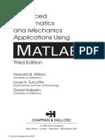 Advanced Mathematics &Mechanics Applications Using MATLAB